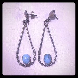Jewelry - Teardrop LARIMAR Earrings Natural Sterling Silver